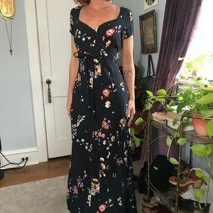 Corey Lynn Calter Floral Sweetheart Maxi Dress